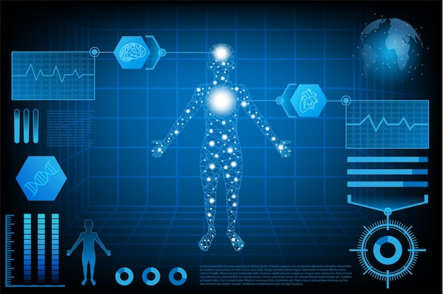 Abstract futuristic technology science concept human
