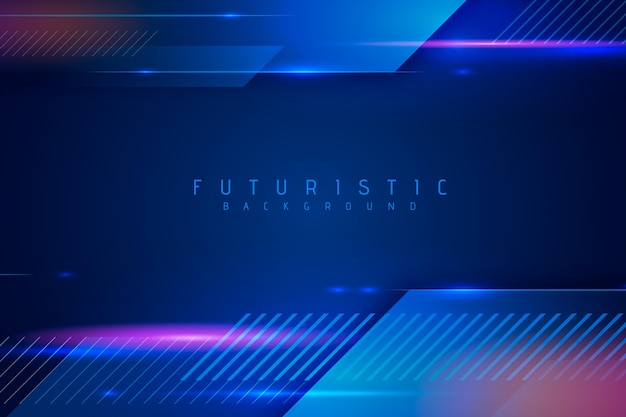 Abstract futuristic wallpaper design Premium Vector