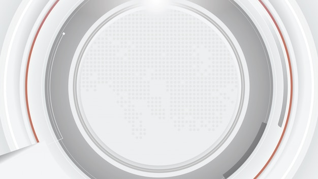 Abstract futuristic white grey technology background.