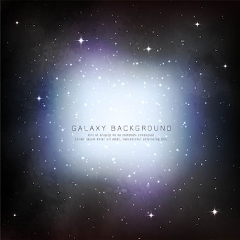 Abstract galaxy background design vector