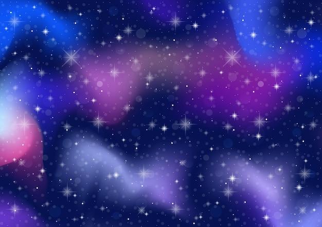 抽象的な銀河。コスモススペースと星は背景に影響を与えます。