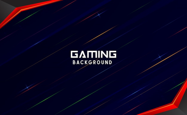 Abstract gaming background with light ray object