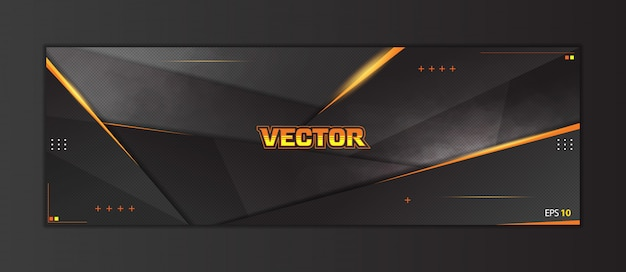 Abstract gaming header social media banner template