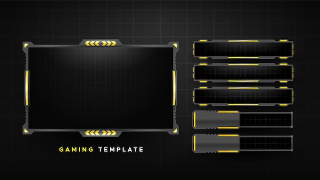 Abstract gaming stream panels pack