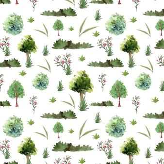 Abstract garden seamless pattern