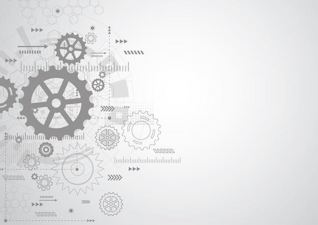 抽象的な歯車機構の背景。機械技術