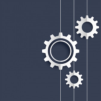 Abstract gears background with text space