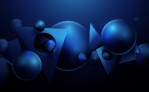 Abstract geometric 3d effect compositions futuristic background