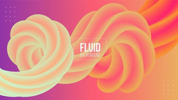 Abstract geometric 3d fluid shape background