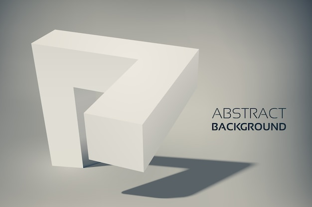 Abstract geometric 3d grey shape for web design