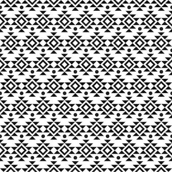 추상적 인 기하학적 미국 민족 토착 패턴 흑백 기하학적 패턴