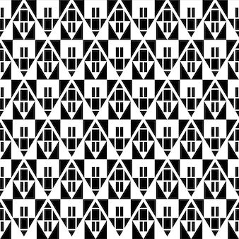 三角形の抽象的な幾何学的なアメリカの民族のシームレスなパターン