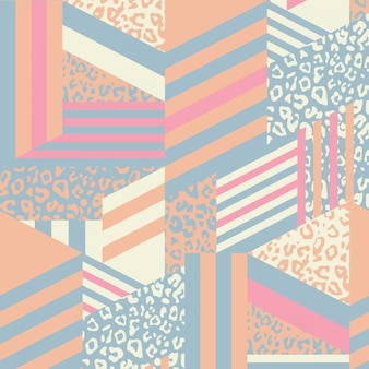 Abstract geometric animal pattern mix