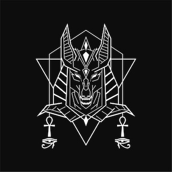 Abstract geometric anubis