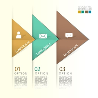 Abstract geometric arrow flow infographic elements template