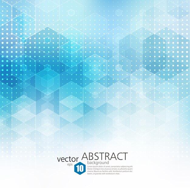 抽象的な幾何学的な背景。青い六角形