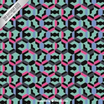 Priorità bassa geometrica astratta in stile colorato