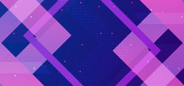 Abstract geometric background concept with blue and purple