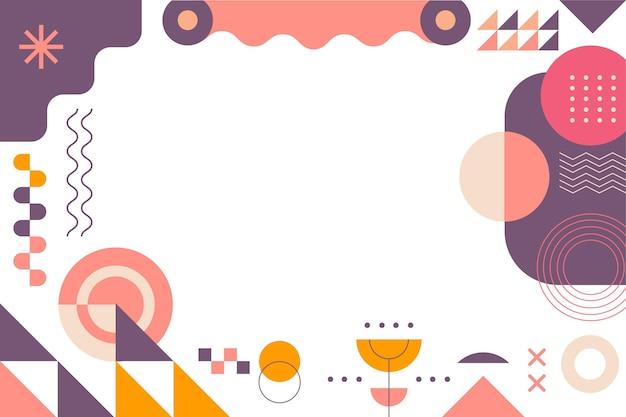 Абстрактный геометрический фон плоский дизайн