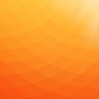 オレンジと黄色の色調で抽象的な幾何学的な背景
