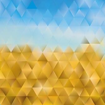삼각형 다각형의 추상적인 기하학적 배경
