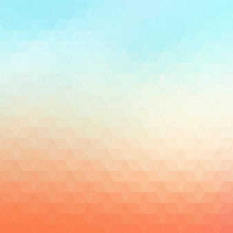 Abstract geometric background in orange and light blue tones