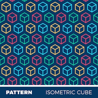 Abstract geometric background pattern with isometric cubes
