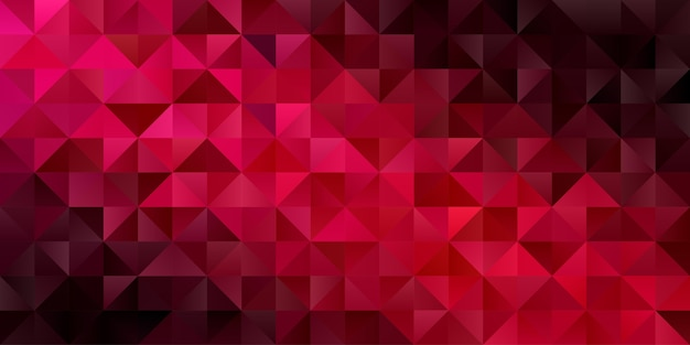 抽象的な幾何学的な背景。濃い赤のポリゴンの三角形の壁紙。パターン