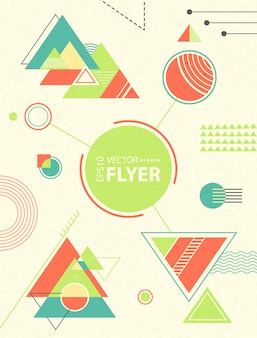 Abstract geometric background. retro chaotic geometric shapes, triangles.