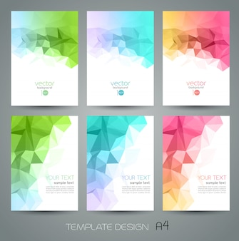 Abstract geometric background set with triangles
