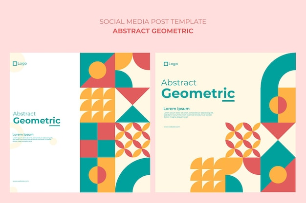 Abstract geometric background, social media post
