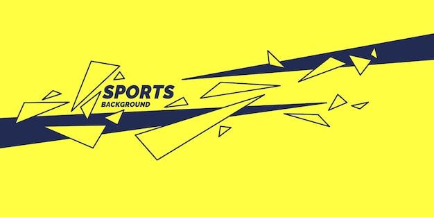 抽象的な幾何学的な背景。幾何学的図形とスポーツポスター。ベクトルイラスト。
