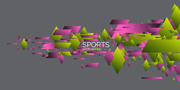 幾何学的図形と抽象的な幾何学的な背景スポーツポスター