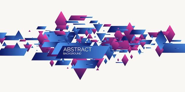 Абстрактный геометрический фон спортивный плакат с геометрическими фигурами