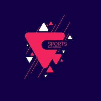 Абстрактный геометрический фон спортивный плакат с плоскими фигурами