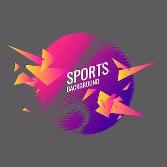 Абстрактный геометрический фон. спортивный плакат в современном стиле. векторная иллюстрация.