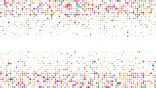 Abstract geometric background of squares. multicolor pixel background with empty space. vector illustration.