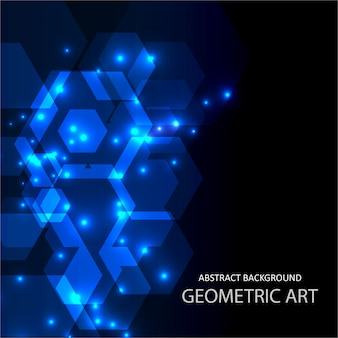 Abstract geometric background with bright dots