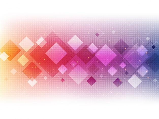 カラフルな正方形で抽象的な幾何学的な背景。