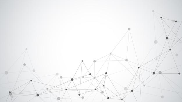 点と線を接続する抽象的な幾何学的な背景