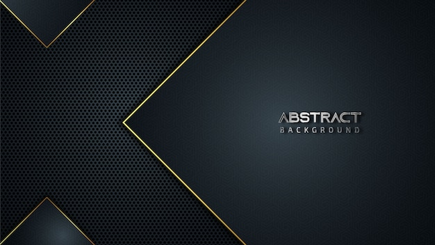 Abstract geometric background with golden lines
