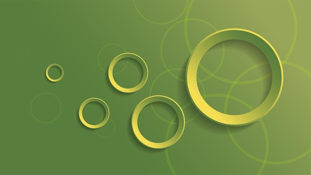 Abstract geometric background with green gradient circle background
