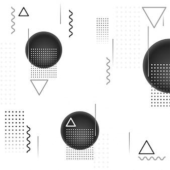 Абстрактный геометрический фон с серой сферой и другими формами.
