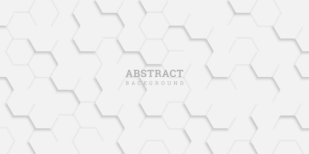 Abstract geometric background with hexagons in paper style