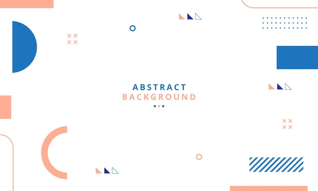 Abstract geometric background with memphis style