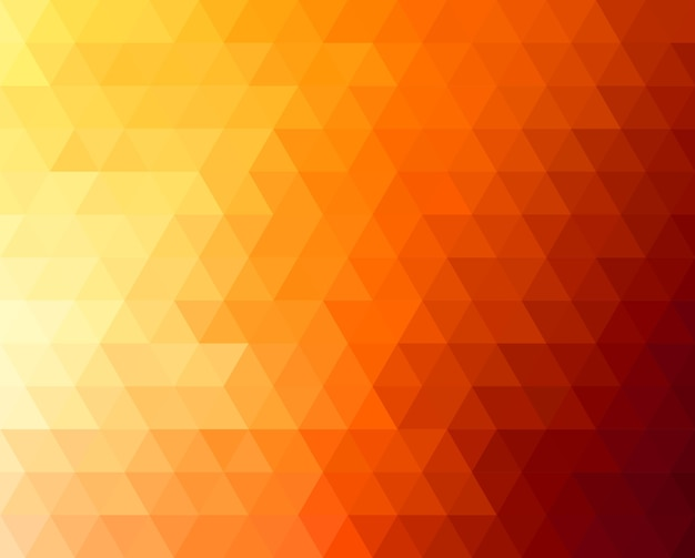 Abstract geometric background with orange and yellow triangles. . summer sunny design