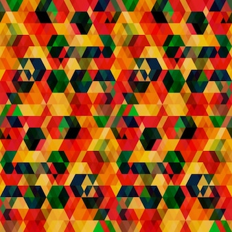 Abstract geometric background with overlapping hexagons