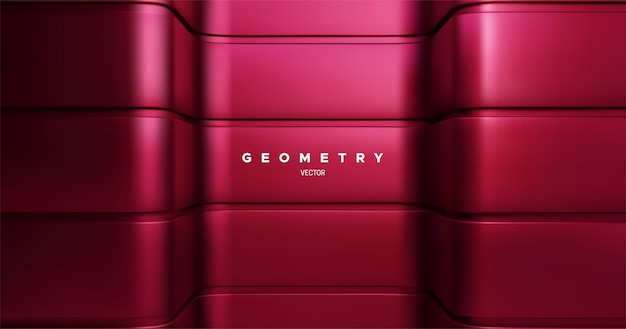 Abstract geometric background with red architectural surface