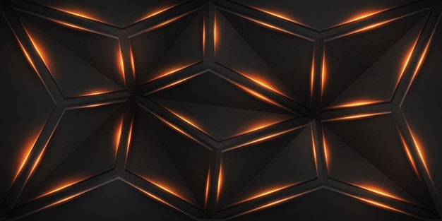 Abstract geometric background with shining lines.