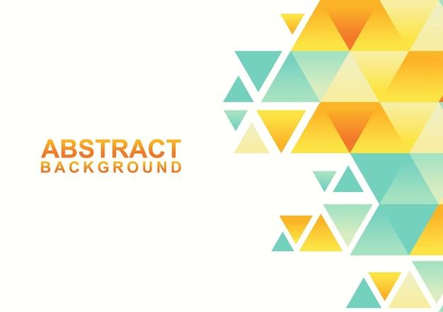 三角形の抽象的な幾何学的な背景。抽象的なモダンなカラフルなデザインテンプレート